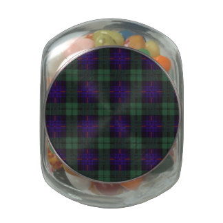 Armstrong clan Plaid Scottish tartan Glass Jars