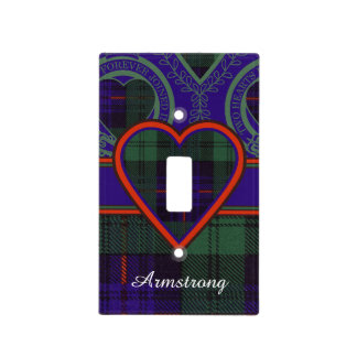 Armstrong clan Plaid Scottish tartan Light Switch Cover