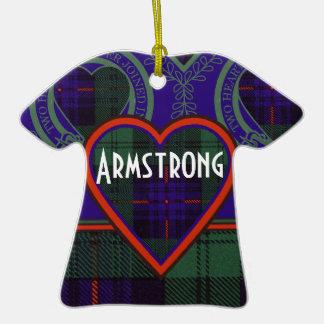 Armstrong clan Plaid Scottish tartan Double-Sided T-Shirt Ceramic Christmas Ornament