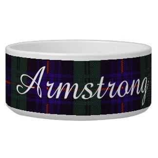 Armstrong clan Plaid Scottish tartan Pet Food Bowl