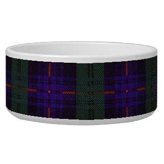 Armstrong clan Plaid Scottish tartan Dog Water Bowl