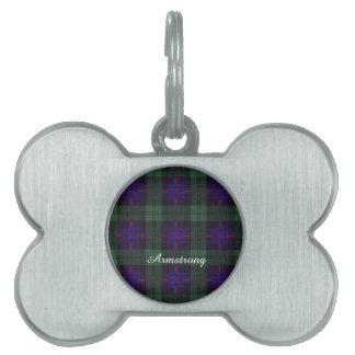 Armstrong clan Plaid Scottish tartan Pet Tag
