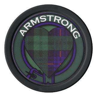 Armstrong clan Plaid Scottish tartan Set Of Poker Chips