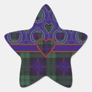 Armstrong clan Plaid Scottish tartan Star Sticker