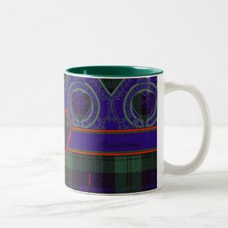 Armstrong clan Plaid Scottish tartan Two-Tone Coffee Mug