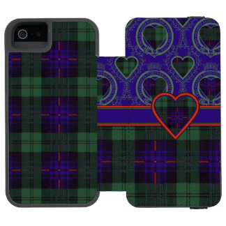 Armstrong clan Plaid Scottish tartan Wallet Case For iPhone SE/5/5s