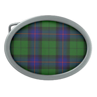 Armstrong clan tartan blue green plaid belt buckle