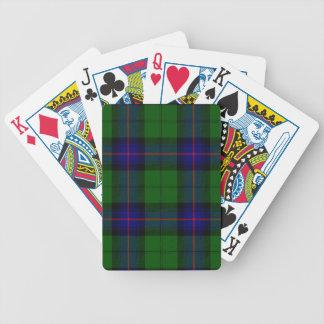 Armstrong clan tartan blue green plaid bicycle playing cards