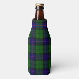Armstrong clan tartan blue green plaid bottle cooler