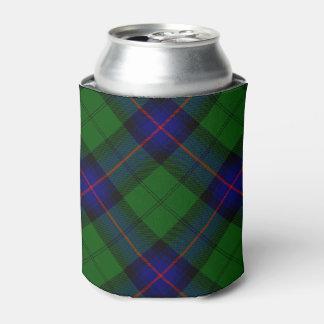 Armstrong clan tartan blue green plaid can cooler