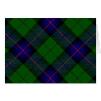 Armstrong clan tartan blue green plaid card