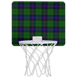 Armstrong clan tartan blue green plaid mini basketball backboard