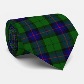 Armstrong clan tartan blue green plaid neck tie
