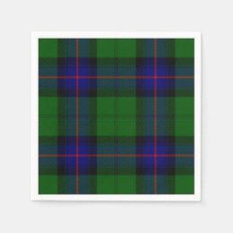 Armstrong clan tartan blue green plaid paper napkin