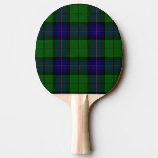 Armstrong clan tartan blue green plaid ping pong paddle