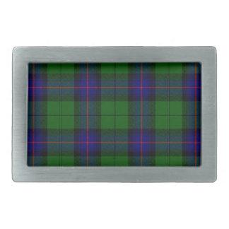 Armstrong clan tartan blue green plaid rectangular belt buckle