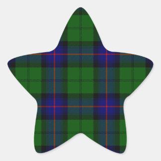 Armstrong clan tartan blue green plaid star sticker