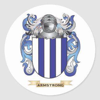 Armstrong Coat of Arms (Family Crest) Classic Round Sticker