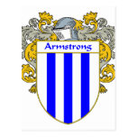 Armstrong Coat of Arms/Family Crest (Mantled) Postcard