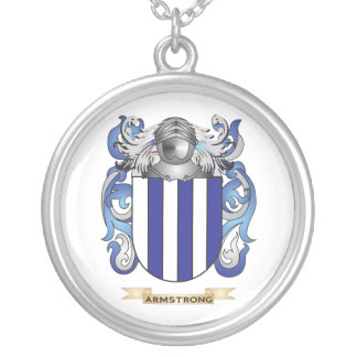 Armstrong Coat of Arms (Family Crest) Round Pendant Necklace