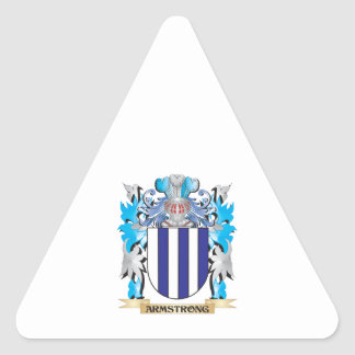 Armstrong Coat Of Arms Triangle Stickers