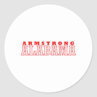 Armstrong, diseño de la ciudad de Alabama Pegatinas Redondas