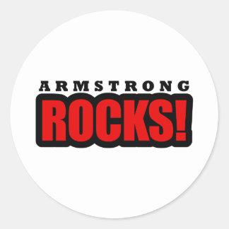 Armstrong, diseño de la ciudad de Alabama Etiquetas Redondas