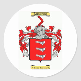 armstrong (en) classic round sticker