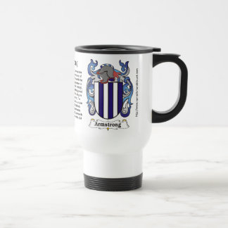 Armstrong Family Coat of Arms Travel Mug