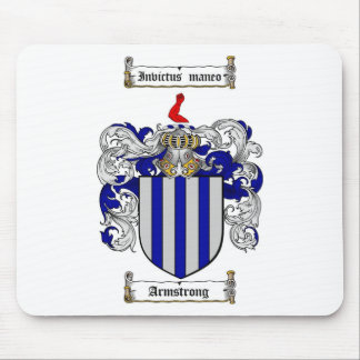 ARMSTRONG FAMILY CREST -  ARMSTRONG COAT OF ARMS MOUSE PAD