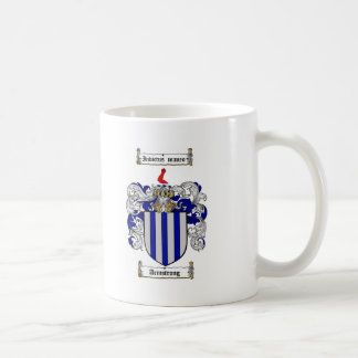 ARMSTRONG FAMILY CREST -  ARMSTRONG COAT OF ARMS CLASSIC WHITE COFFEE MUG