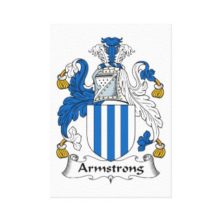 Armstrong Family Crest Canvas Print