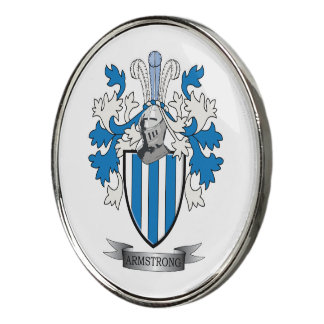 Armstrong Family Crest Coat of Arms Golf Ball Marker