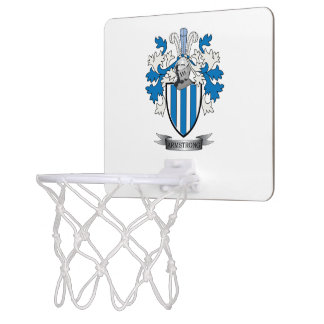 Armstrong Family Crest Coat of Arms Mini Basketball Backboard