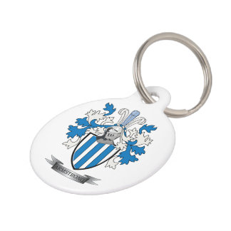 Armstrong Family Crest Coat of Arms Pet ID Tag