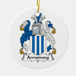 Armstrong Family Crest Christmas Tree Ornament
