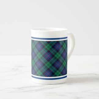 Armstrong Family Tartan Royal Blue and Green Plaid Tea Cup