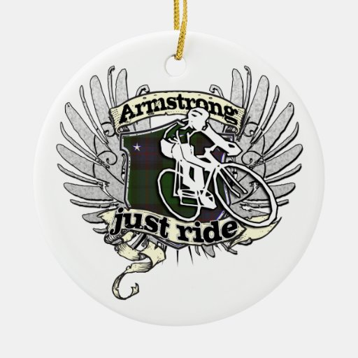 Armstrong Just Ride Christmas Tree Ornaments