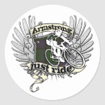 Armstrong Just Ride Round Stickers