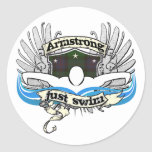 Armstrong Just Swim Classic Round Sticker