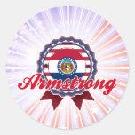 Armstrong, MES Etiquetas Redondas