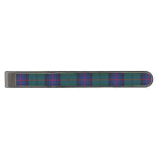 Armstrong Plaid Gunmetal Finish Tie Bar