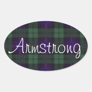 Armstrong Scottish Tartan Oval Sticker