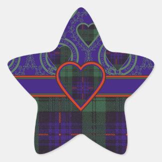 Armstrong Scottish Tartan Star Sticker