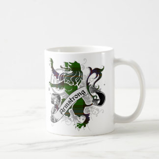 Armstrong Tartan Lion Classic White Coffee Mug