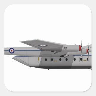 Armstrong Whitworth AW-650 Argosy 400400 Square Sticker