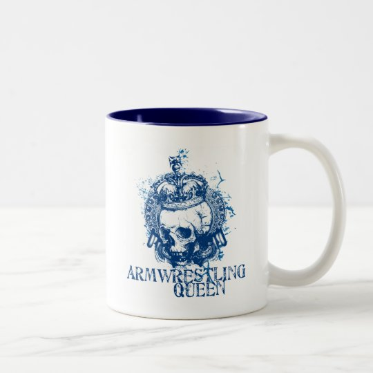 Armwrestling Queen Two-Tone Coffee Mug