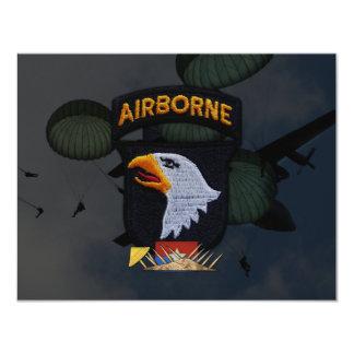 army 101st airborne division nam patch custom invitations