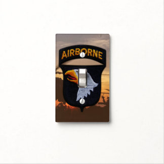 Army 101st airborne division screaming eagles vets light switch cover