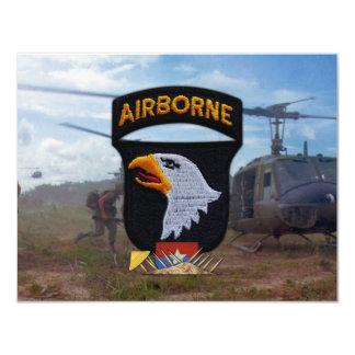 "army 101st airborne vietnam nam patch 4.25"" x 5.5"" invitation card"